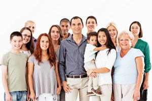 group of mixed age people