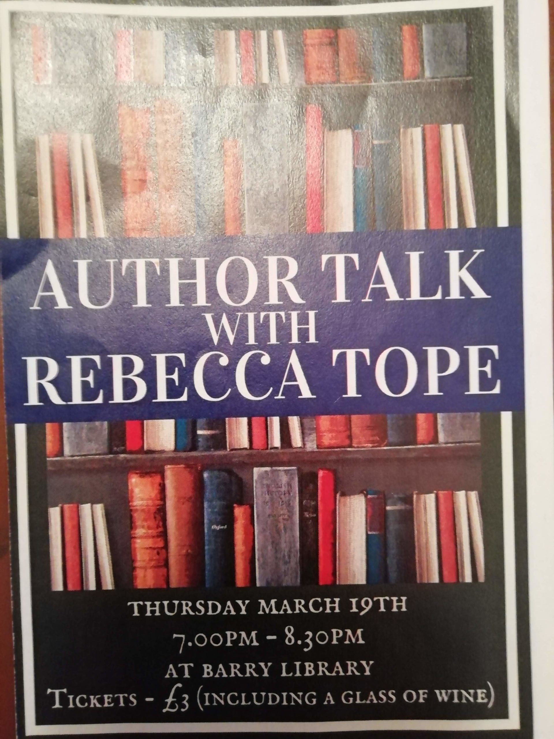 Author Talk with Rebecca Tope.